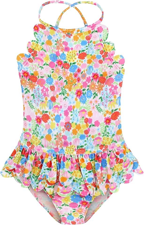 mini eggs Baby Girl One Piece Swimsuit Swimwear Summer Toddler Bikini Quick Dry Beach Bathing Suits 1-6Y