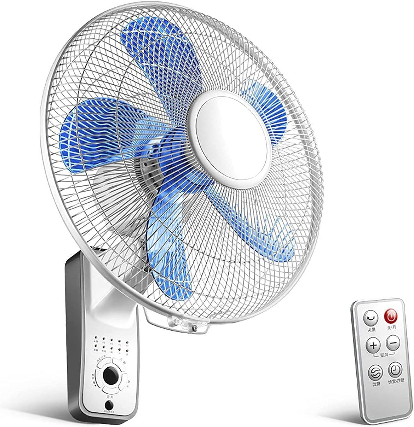 HTDHS Montaje de la Pared Monte FAN-3-SPEED Ajustable Ajuste Control Ventilador Silent fanáticos eléctricos Azules y de Oficina