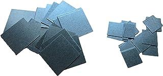 20 x stalen plaatjes metalen stukken vlak 25 mm of 45 mm vierkanten - 0,5 mm plaat voor knutselen & huishouden & werkplaat...
