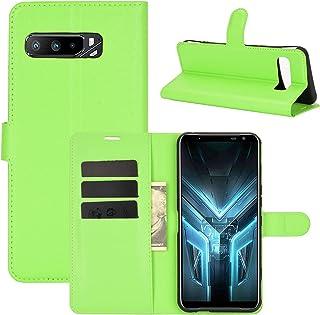 電話ケース for ASUS ROG Phone 3 ZS661KS Litchi Textureホリゾンタルフリッププロテクティブケース、ホルダー&カードスロット&ウォレット付き 携帯電話のアクセサリー