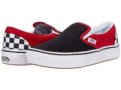 Vans Kids ComfyCush Slip-On (Big Kid) ((Checkerboard) Black/Red) Boys Shoes
