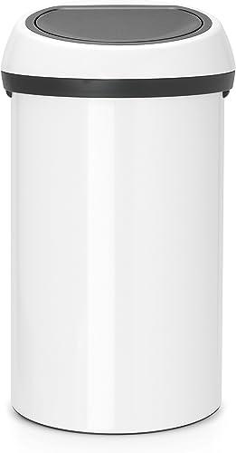 Brabantia 108686 Poubelle Touch Bin, 60 L - Blanc