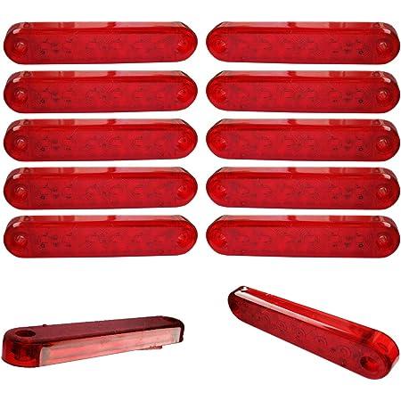 10x 6 Smd Led Begrenzungsleuchten Rot 12v 24v Positionsleuchten Lkw Anhänger Auto