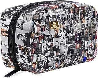 Makeup Pouch Storage Holder Travel Case Cosmetic Makeup Bag (Elvis Presley Collage)