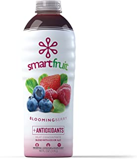 Smartfruit Blooming Berry, 100% Real Fruit Smoothie Mix, No Added Sugar, Non-GMO, No Additives, Vegan, Family Pack 48 Fl. Oz (Pack of 1)