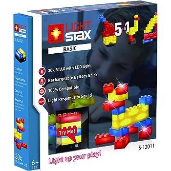 Light Stax Set 36 LED Bausteine 2 Grundplatte 100/% Kompatibel USB Nachtlicht