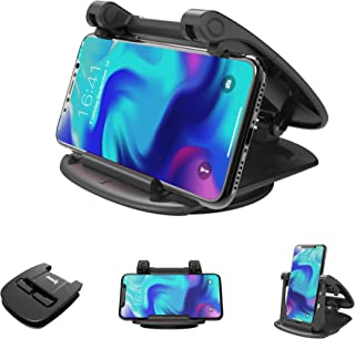IPOW Universal 360 Degree Rotatable Car Dashboard Phone Mount Hold Phones Vertically/Horizontally,Car Cell Phone Holder Compatible with GPS,iPhone 7 6 6s X XS 8 Plus Samsung S9 S8 S7 S6 Note 8 Google