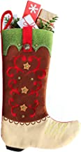 Country Christmas Stockings - 18-inch Cowboy Boot Christmas Stocking, Farmhouse Christmas Stockings Christmas Decoration R...