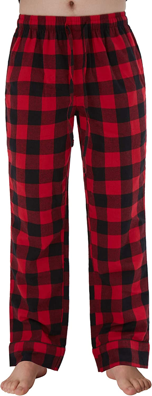 Miss Cassie&Miss Kiki Men's100% Cotton Super Soft Flannel Plaid Pajama Pants Sleep Lounge Pant for Men Sleepwear