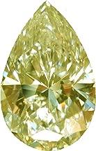 yellow moissanite loose stone