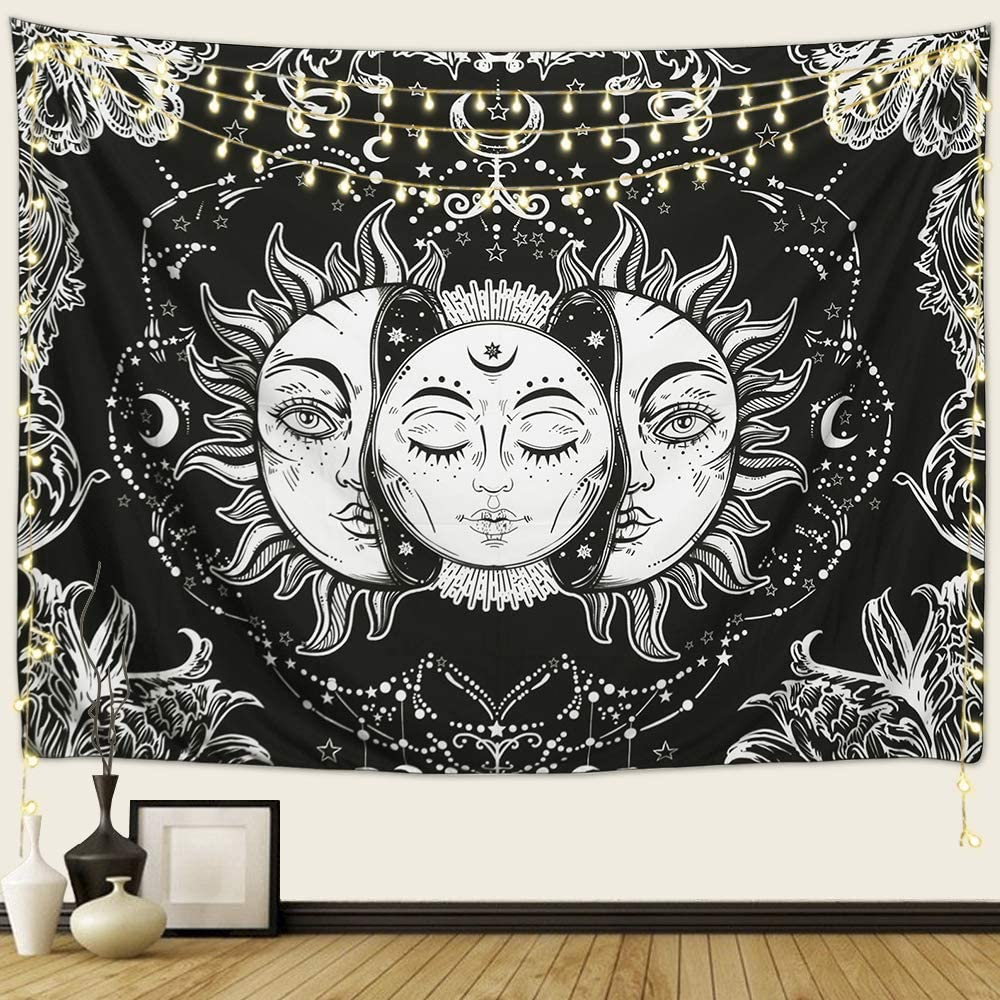 Arfbear Sun and List price Moon Tapestry 5 ☆ very popular Stars Burning with Psychedeli