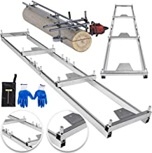 OrangeA Rail Mill Guide System 9 FT Chainsaw Mill Rail Guide with 4 Wood Fixing Plate Rail Mill Guide Used in Combination with The Saw Mill (9FT-RMG)