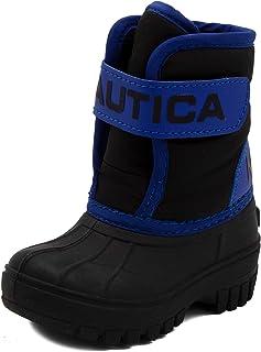Nautica Kids Snow Boot, Hook & Loop Strap Water Resistant Winter Shoe (Toddler/Little Kid)