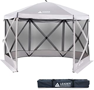 Leader Accessories Pop Up Hub Camping Screen House Canopy Gazebo Tent