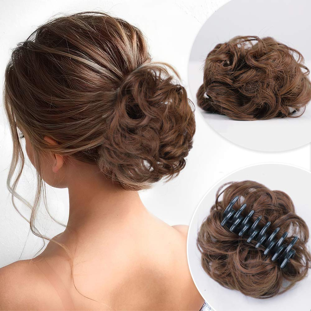 DeeThens Messy Curly Dish Hair Bun Hairpieces in Clip Cheap mail Miami Mall order specialty store Claw
