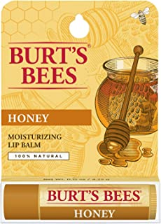 Burt's Bees 100% Natural Moisturizing Lip Balm, Honey with Beeswax - 1 Tube