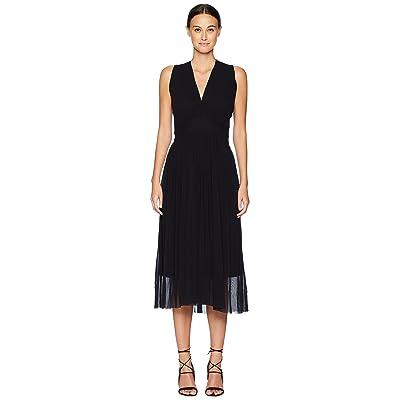 FUZZI Solid Crisscross Dress (Nero) Women