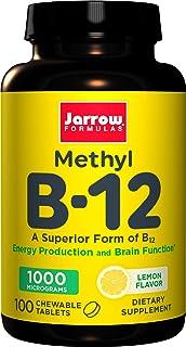 Jarrow Methylcobalamin B12. 1000 mcg. 100 pastillas veganas con sabor a limón (1000 mcg. 100 pastillas veganas con sabor a limón)