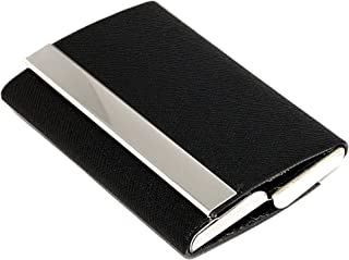 Business Card Case Luxury PU Leather & Stainless Steel Multi Card Wallet Credit Card Holder for Men & Women (Style-2)