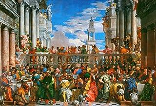 Kunst für Alle Reproduction/Poster: Paolo Veronese Wedding at Cana - Affiche, Reproduction Artistique de Haute qualité, 95...