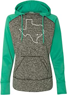 Womens Texas Home Hoodie - TX Colorblock Sweatshirt by Hometown Hoodies
