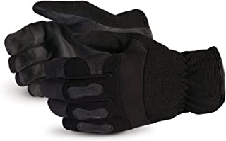 Superior Winter Work Gloves - Black Synthetic Leather with Neoprene for Comfort and Safety (378PLFL) – Size Medium