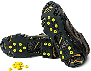 ALPS IceGrips Snow Traction Gear Slip on Snow Ice Cleat Traction Plus 10 Extra Replacement Steel Studs (Available in S, M, L, XL Sizes)
