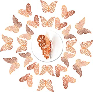 xiaoam 72 Pcs 3D Butterfly Wall Stickers, 3 Sizes Butterflies Removable Mural Stickers Butterfly Wall Decals for Bedroom P...