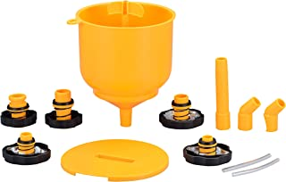 Kauplus Radiator Coolant Filling Funnel Kit- Spill Proof Coolant Filling Plastic Funnel Kit with Adapter