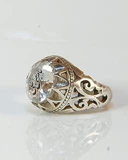 Dur e Najaf Ring Silver   خاتم در النجف الاصلي   AlAliGems   Genuine Dur E Najaf Stone Ring Size 10