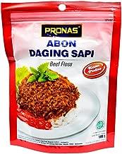 Pronas Abon Sapi Rasa Pedas - Beef Floss Chili Flavor, 100 Gram (Pack of 3)