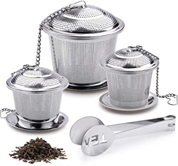 Firpow 3 Premium Tea Ball Strainers & Cooking Infuser
