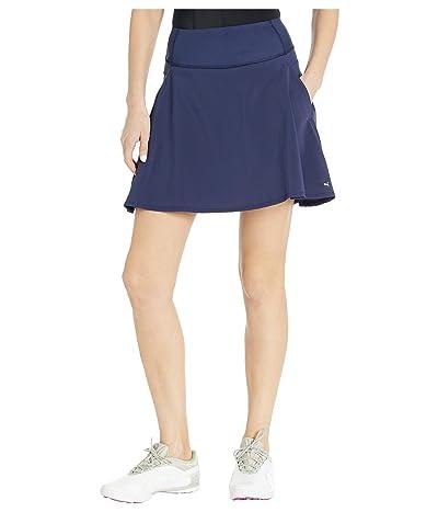 PUMA Golf PWRSHAPE Solid Woven Skirt (Peacoat) Women