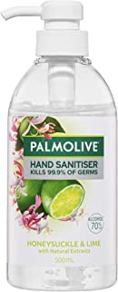Palmolive Antibacterial Hand Sanitiser Honeysuckle and Lime with Natural Extracts Kills 99.9 Percent of Germs Rinse Free 5...