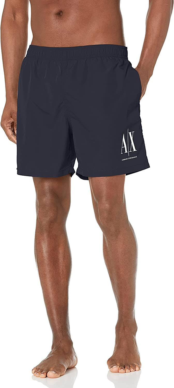 AX Armani Exchange Men's Standard Icon Boxer Swim Short