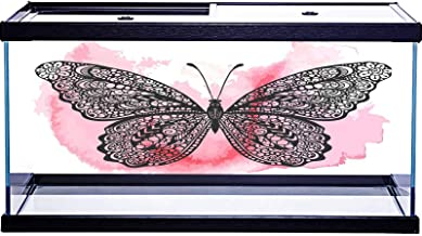 SoSung Underwater World - Adhesivo decorativo de PVC, diseño de mariposa y mariposa, 122 x 61 cm