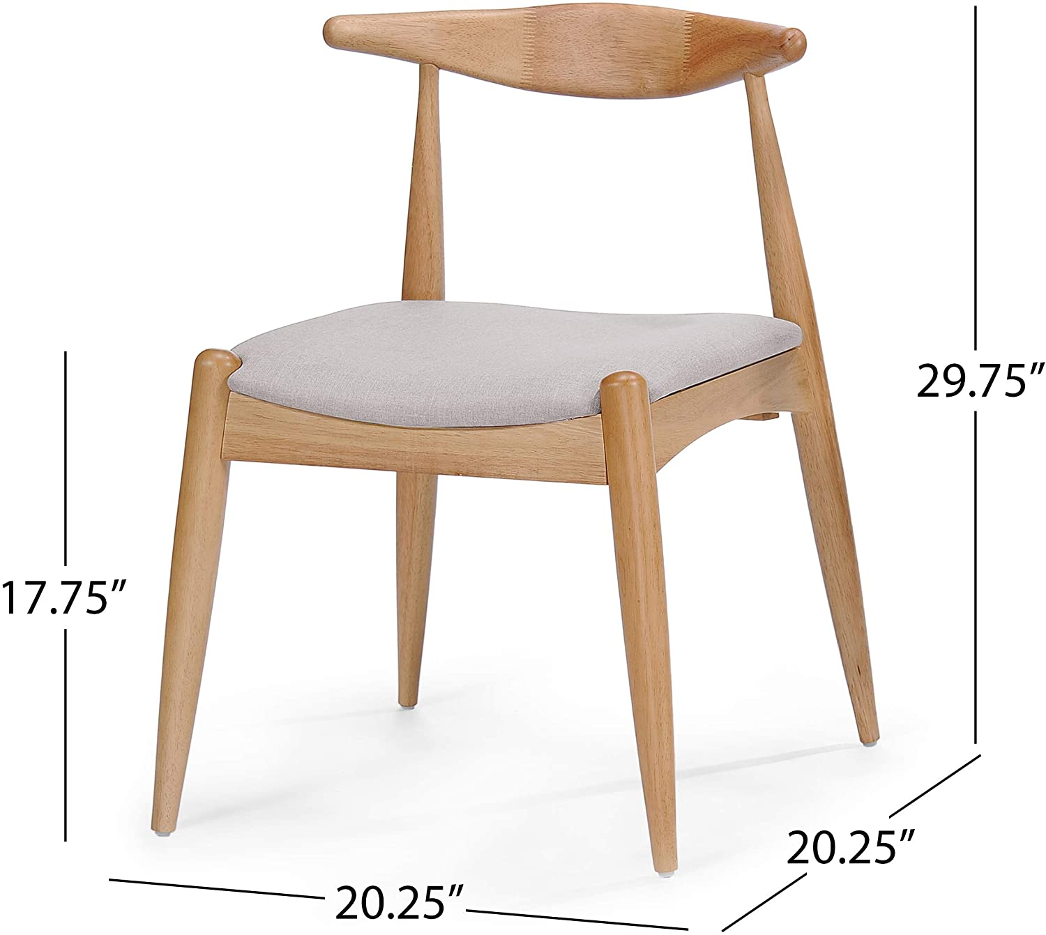 Best Ergonomic Dining Chair: Christopher Knight Home Francie Fabric Chairs.
