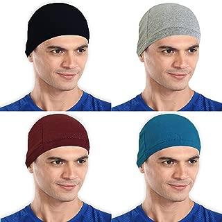 The Blazze Cotton Helmet Cap (Free Size, Black+Grey+Maroon+Turquise Blue)