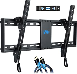"Mounting Dream Tilt TV Wall Mount Bracket for Most 37-70 Inches TVs, TV Mount with VESA up to 600x400mm, Fits 16"", 18"", 24"" Studs and Loading Capacity 132 lbs, Low Profile and Space Saving MD2268-LK, UP to 600 VESA TV Wall Mount"