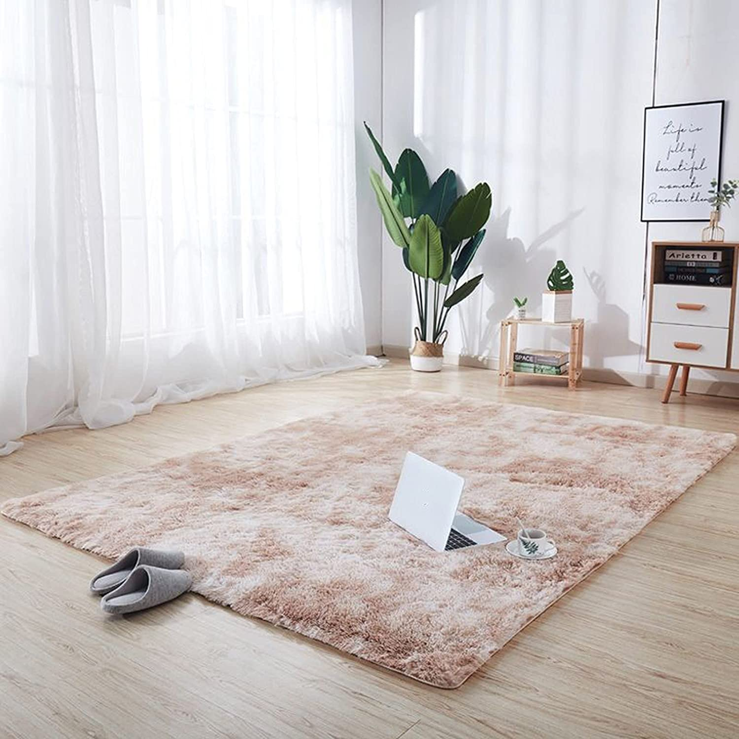 JHJUH Area Rug Fluffy Living Room Reservation Year-end annual account Luxury R Large