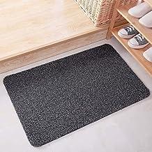 ESUPPORT Large Welcome Entrance Door Mats Household Absorbs Mud Non Slip Entryway Floor Rug, Gray