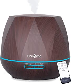 Daroma 550ml Essential Oil Diffuser, 5 In 1 Aromatherapy Ultrasonic Cool Mist Humidifier Room Air Scent for Home Office Gift - Dark Wood