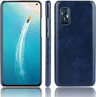 JINJIN for For Vivo V19 (Indonesia) Shockproof Litchi Texture PC + PU Case(Black) Cover (Color : Blue)