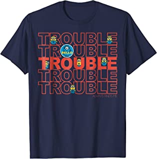 Minions Trouble Finds Me Graphic T-Shirt