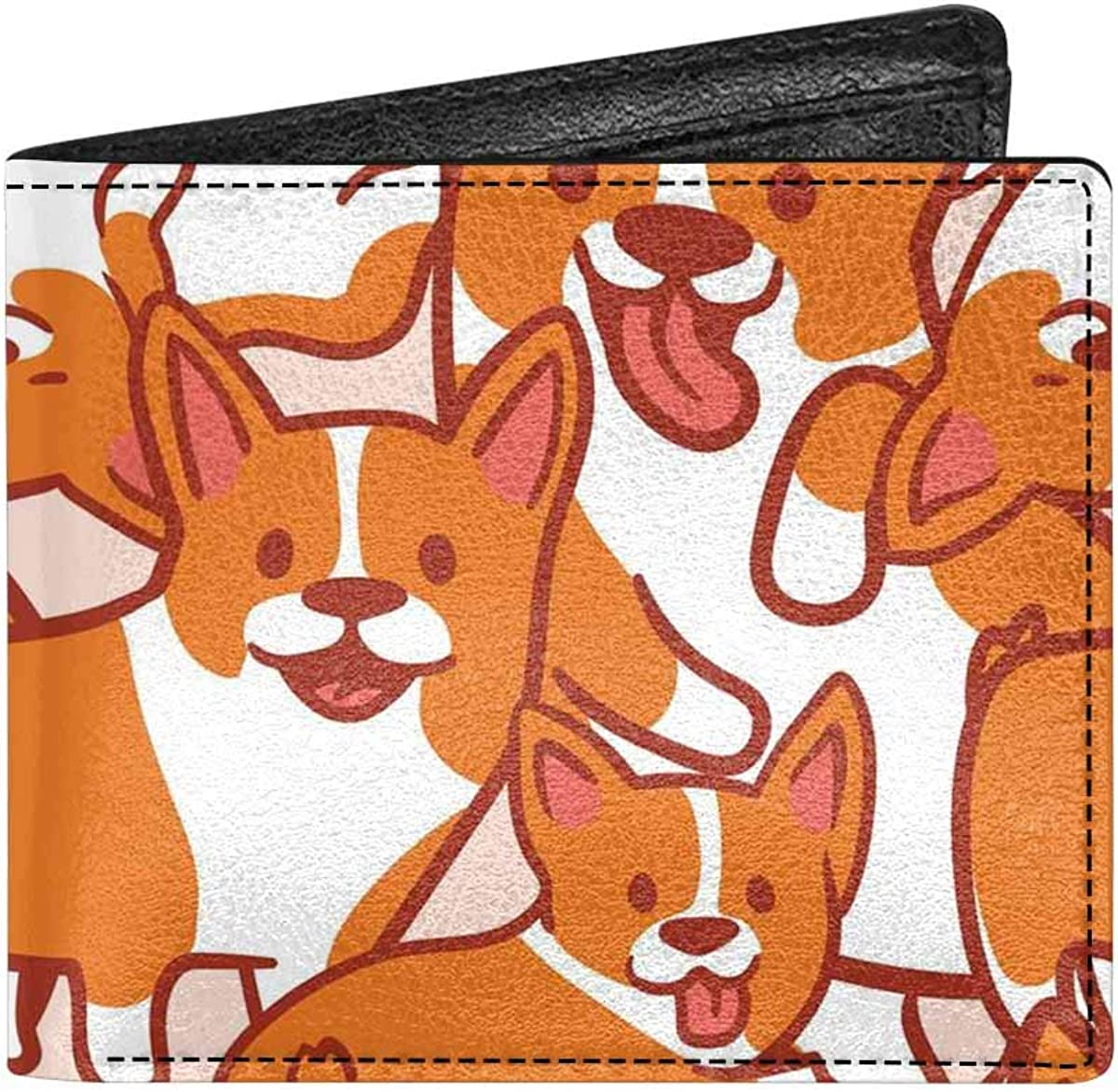 INTERESTPRINT Cartoon Character Cute Pig Classic PU Leather Bifold Wallet for Adults with Coin Purse