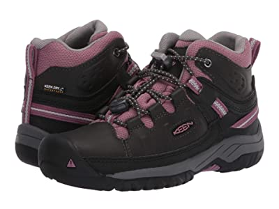 Keen Kids Targhee Mid WP (Little Kid/Big Kid) (Raven/Tulipwood) Girl