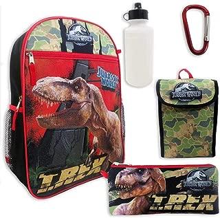 Jurassic World Boys 5 Pc Backpack Set, Black, One Size