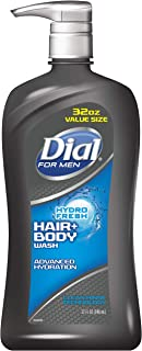 Dial for Men Hair + Body Wash, Hydro Fresh, 32 Ounce