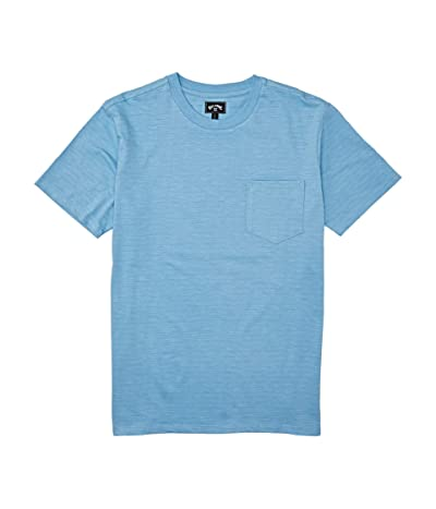 Billabong Mesa Slub Premium Crew T-Shirt (Dusty Blue) Men