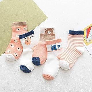 ZHANGNUO, 19 Años Calcetines De Primavera Y Otoño De Dibujos Animados para Niños Calcetines para Niños Algodón Peinado Algodón para Niños Y Niñas Calcetines para Bebés
